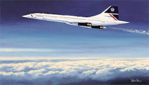 Limited Concorde print signed by record breaking pilot