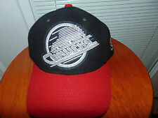2015 CCM VANCOUVER CANUCKS RED Black 100% Melton Wool NHL Hockey Hat Cap NEW