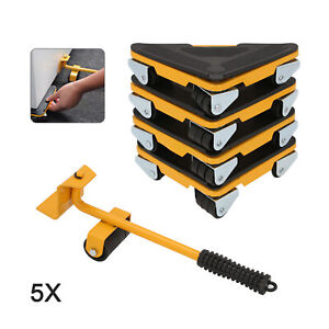 5*Heavy Duty Furniture Shifter Lifter Wheel Slider Mover Removal Transportation