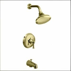 KOHLER K-T464-4C-AF Memoirs Classic TUB & shower trim, NEEDS VALVE, FRENCH GOLD