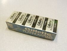 Vintage NOS Gillette Platinum Plus Double Edge Safety Razor Blade 20 Pack