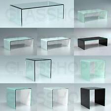 Exklusiver Design Glas Tisch Couchtisch | Glastisch Echtglas gebogen Vollglas