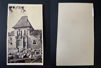 Ruines à identifier Vintage albumen print CDV.  Tirage albuminé  6,5x10,5