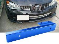 Blue Metal Offset Bumper Front License Plate Mounting Bracket Plate for Chevy