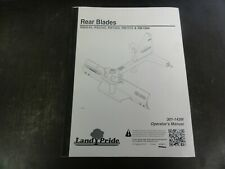 Land Pride Rb0548 Rb0560 Rb1560 Rb1572 Rb1584 Rear Blades Operators Manual 11