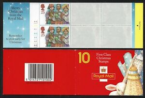 GB Stamps: Decimal Christmas Barcode Booklet LX6 with Cylinder Number