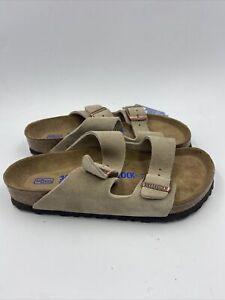 birkenstock Womens Arizona Taupe Suede Sandals Size 36 M , 018