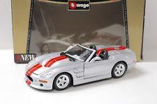 1:18 Bburago Shelby Series 1 silver/red 1998 NEW bei PREMIUM-MODELCARS