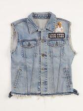 Sleeveless Denim Jacket - Biker - Cool - Medium - Vintage, Hip - Loud Pipes