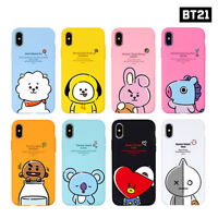 BTS BT21 Official Authentic Goods Hang Out Soft Case for iPhone / Galaxy