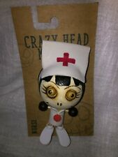 Crazy Head Magnet Nurse Gift Rubber Wood Collectible Magnet First Responder Gift