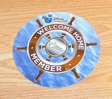"Genuine Disney Vacation Club Welcome Home Member Ship Wheel 6"" Car Magnet *READ*"