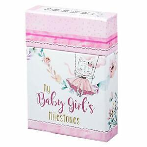 Christian Art Gifts Baby Girl Milestone Photo Prop Cards - Set of Keepsake