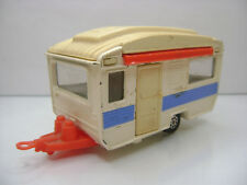 Diecast Corgi Caravan with Canape 1:36? ca. 1975 in White Good Condition