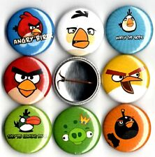 "Angry birds 8 NEW 1"" buttons pins badge video game STOCKING STUFFER"