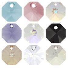 Genuine SWAROVSKI 6401 Octagon Crystals Pendants * Many Sizes & Colors