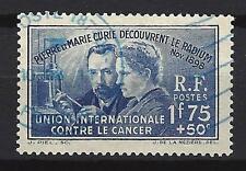 France 1938 Découverte du radium Yvert n° 402 oblitéré 1er choix (1)