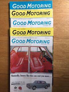 5x Good Motoring Magazines. Oct, Nov & Dec 1963, Jan 1964 & Sept 1967