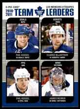 2011-12 O-Pee-Chee Team Leaders Phil Kessel, Clarke Macarthur, James Reimer