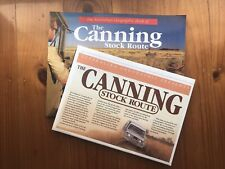 The Canning Stock Route With Detailed Map Lift Out