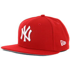 New Era 59Fifty New York Yankees SC WH Fitted Hat (Red/White) Men's MLB Cap