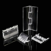 10Pcs Durable Transparent Plastic Folding Hinges Durable Clear Acrylic Hinge