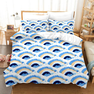 Mermaid Scales Duvet Comforter Cover Bedding Set Pillowcase Twin Queen Cloud
