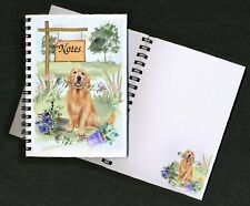 Golden Retriever Dog Notebook/Notepad + small image on every page by Starprint