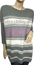 SONOMA Oversized Boat Neck 3/4 Sleeves Size XL Women's Gray Combo Sweater NEW