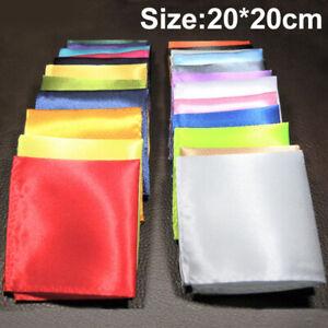 Men Square Paisley Handkerchief Silk Hanky Pocket Wedding Party Chest Towel