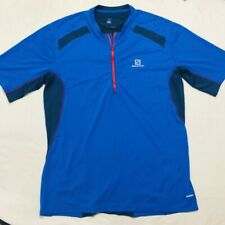 Salmon Mens 1/4 Zip Shirt Cycling Blue Xl Advanced Skin Running Ss Jersey Pocket