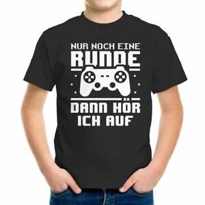 Kinder T-Shirt Nur noch eine Runde Zocker Gamer Spruch lustig Geschenk für