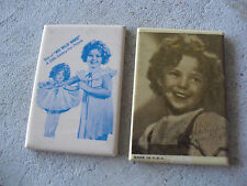 Lot of 2 Vintage 1930s Small Shirley Temple Wee Willie Winkie Compact Mirrors