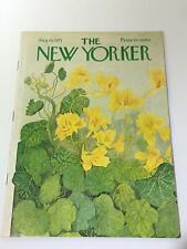 The New Yorker: August 14 1971 - Full Magazine/Theme Cover Ilonka Karasz
