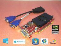 Windows 10 Dell Optiplex 360 380 390 960 980 990 SFF Dual Monitor VGA Video Card