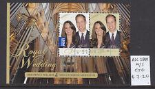 2011  ROYAL WEDDING SHEETLET  CTO/USED  ASC 2889MS.