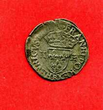 (MD 25) HENRI III DOUZAIN AUX 2 H 3ème TYPE 1587 B (ROUEN) TTB