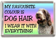 "Italian Spinone Dog Fridge Magnet ""My Favourite Colour is Dog Hair"" by Starprint"