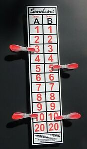 Cornhole  Scoreboard,  Fast FREE SHIP, .Thousands Sold, CAN SCORE UP TO 30