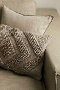 H & M taupe wool blend textured cushion PILLOW COVER 16 x 24 / NWT