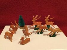 Vintage  00004000 Miniature Plastic Reindeer (8)