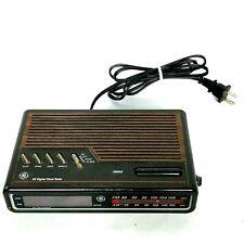 Vintage GE Digital Alarm Clock Radio AM FM 7-4612B Wood Grain Tested Works