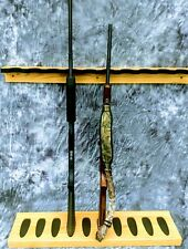 Closet Gun Rack Holds 10 Guns For Wall Hunting Camp Storage Garage Oak Wood.