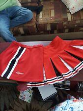 Real Cheerleading Uniform Skirts lot of 2 Red n Black