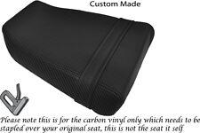 CARBON FIBRE VINYL CUSTOM FITS SUZUKI GSXR GK73A 400 CC REAR SEAT COVER ONLY