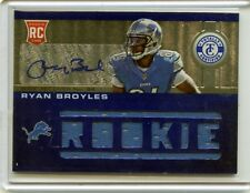 2012 TOTALLY CERTIFIED CARD NO.231, RYAN BROYLES AUTOGRAPH JERSEY ROOKIE #81/99