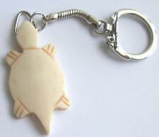 Hand Crafted Buffalo Bone Turtle Keychain / Key Ring. Native American