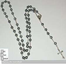 Strand Grey Pearl Balls 7,5mm Fashion Cristiano Rosary New