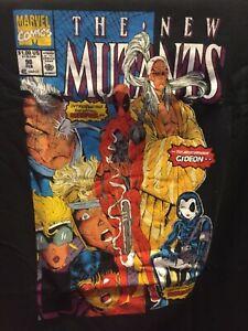 The New Mutants #98 T-Shirt M Medium 1st Appearance Deadpool Black New