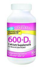 21st Century 600 mg Plus D Calcium Supplement, 400 Count